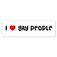 I LOVE GAY PEOPLE Bumper Bumper Sticker