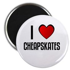 "I LOVE CHEAPSKATES 2.25"" Magnet (100 pack)"