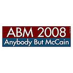 Anybody But McCain 2008 bumper sticker