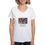 Quilts - Warm Treasures Women's V-Neck T-Shirt