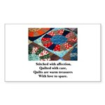 Quilts - Warm Treasures Rectangle Sticker