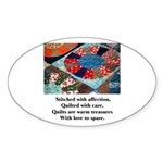 Quilts - Warm Treasures Oval Sticker (10 pk)