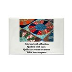 Quilts - Warm Treasures Rectangle Magnet (100 pack