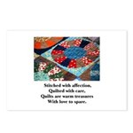 Quilts - Warm Treasures Postcards (Package of 8)