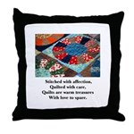 Quilts - Warm Treasures Throw Pillow