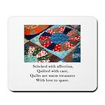 Quilts - Warm Treasures Mousepad