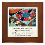 Quilts - Warm Treasures Framed Tile