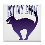 Pet My Kitty Tile Coaster