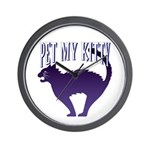 Pet My Kitty Wall Clock