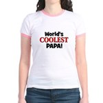 World's Coolest Papa! Jr. Ringer T-Shirt