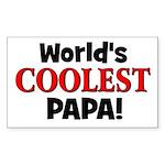 World's Coolest Papa! Rectangle Sticker