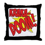KRAKADOOM! Throw Pillow