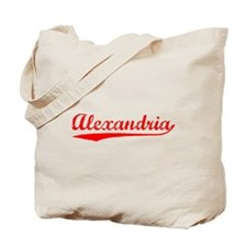 Vintage Alexandria (Red) Tote Bag