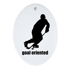 Goal Oriented Hockey Ornament (Oval)