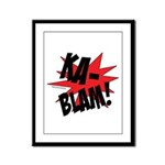 KABLAM! Framed Panel Print