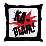 KABLAM! Throw Pillow
