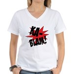 KABLAM! Women's V-Neck T-Shirt