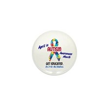 Autism Awareness Month 1 Mini Button (10 pack)