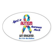 Autism Awareness Month 1 Oval Decal