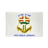 2nd BN 6th INF Gear Rectangle Magnet (10 pack)