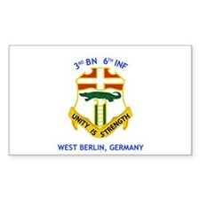 3rd BN 6th INF Rectangle Sticker 50 pk)