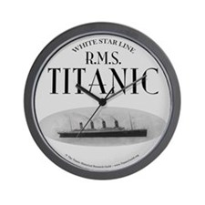 "Titanic Ghost Ship (white) 10"" Wall Clock"