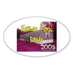 Trailer Park Party Oval Sticker
