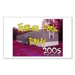 Trailer Park Party Rectangle Sticker
