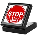 Stop War Keepsake Box