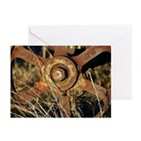 Rusty Wagon Wheel Greeting Cards (Pk of 10)