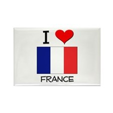 I Love France Rectangle Magnet