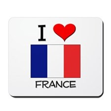 I Love France Mousepad