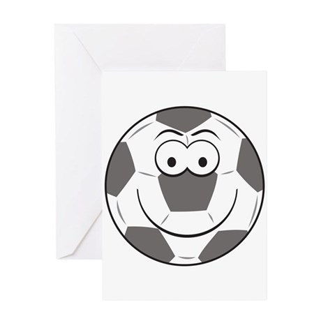 Soccer Ball Smiley Face Greeting Card