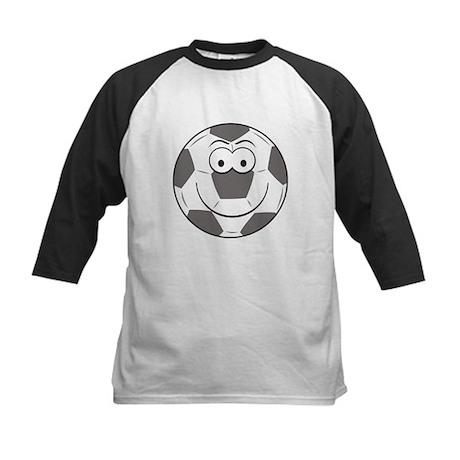 Soccer Ball Smiley Face Kids Baseball Jersey