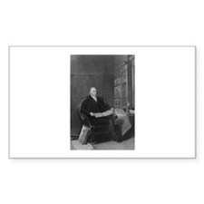 John Quincy Adams Rectangle Decal