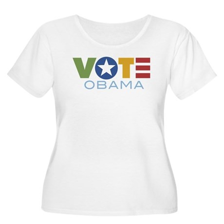 Vote Obama Women's Plus Size Scoop Neck T-Shirt
