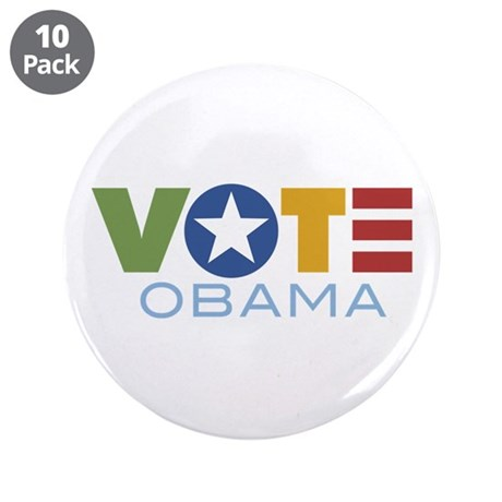 "Vote Obama 3.5"" Button (10 pack)"