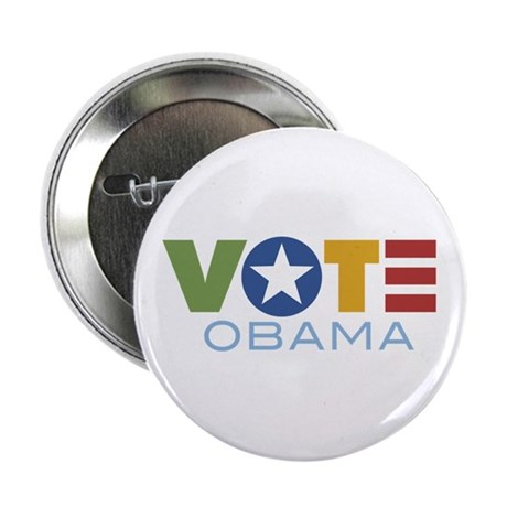 "Vote Obama 2.25"" Button"