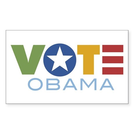 Vote Obama Rectangle Sticker
