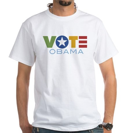 Vote Obama White T-Shirt