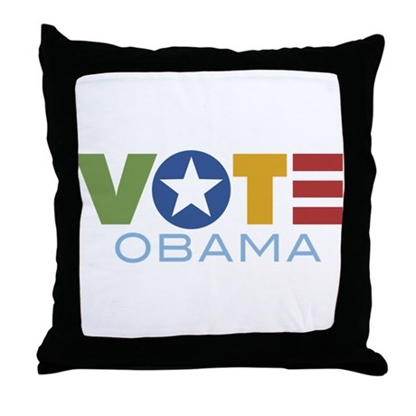 Vote Obama Throw Pillow