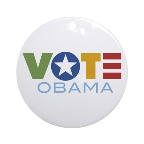 Vote Obama Ornament (Round)