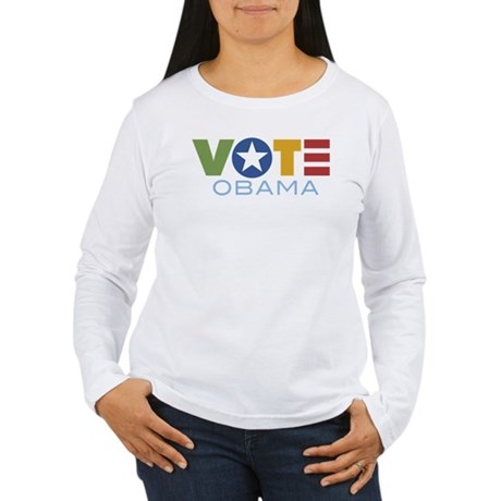 Vote Obama Women's Long Sleeve T-Shirt