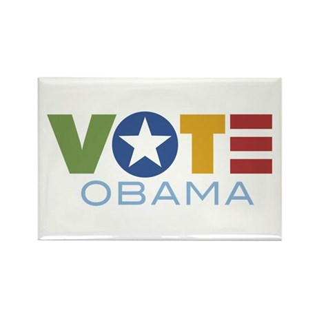 Vote Obama Rectangle Magnet