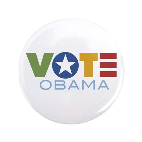 "Vote Obama 3.5"" Button"