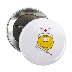 "Medical/Doctor Smiley Face 2.25"" Button"