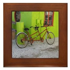 Bicycle Built for Two Framed Tile