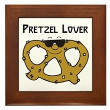 Pretzel Lover Framed Tile