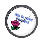Ask Me About My Roses Wall Clock