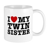 I Love My Twin Sister Coffee Mug